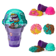Kinetic Sand Scents, 4oz Ice Cream Cone Container with 2 Colors of All-Natural Scented (Styles May Vary)