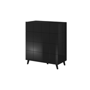 Cama chest of drawers 4D REJA black gloss/black gloss