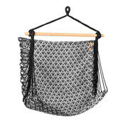 Spokey ETNO Black, Grey, White Hanging hammock chair