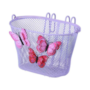 Basil Jasmin Butterfly Front Bicycle basket Steel Lilac
