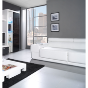 Cama high display cabinet SAMBA white/black gloss
