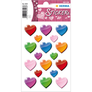HERMA Stickers coloured hearts