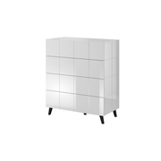 Cama chest of drawers 4D REJA white gloss/white gloss