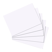 Herlitz 10621423 index card White 100 pc(s)