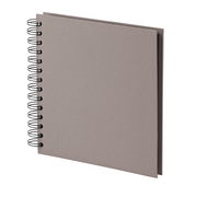 Rössler 1329452495 photo album Taupe Spiral binding