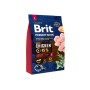 Brit 8595602526444 dogs dry food 3 kg Adult Chicken