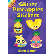 Dover Publications Glitter Pineapples Stickers