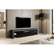Cama TV stand TORO 200 grey/black gloss