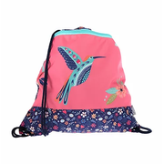 Funki Hummingbird Mesh, Textile Navy, Rose School shoulder bag