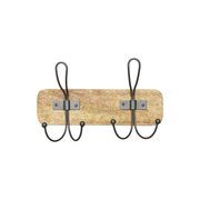 Tranquillo H293 home storage hook Indoor & outdoor Universal hook Metallic, Wood 1 pc(s)
