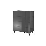 Cama chest of drawers 4D REJA graphite gloss/graphite gloss