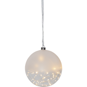 Star Trading Glass Bauble Glow Light decoration figure Silver, Transparent 50 lamp(s) LED 0.9 W