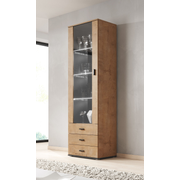 Cama display cabinet SOHO S1 lefkas oak/black