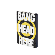 nuuna Bang Head Here writing notebook A5 256 sheets Black, White, Yellow