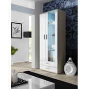 Cama display cabinet SOHO S6 2D2S sonoma oak/white gloss