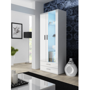 Cama display cabinet SOHO S6 2D2S white/white gloss