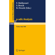 p-adic Analysis - Proceedings of the International Conference held in Trento, Italy, May 29-June 2, 1989