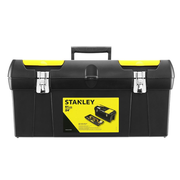 Stanley Series 2000 with 2 Built-In Organizers & Tray Metal Latch, Tool box, Plastic, Black, Yellow, 318 mm, 130 mm, 17.8 mm