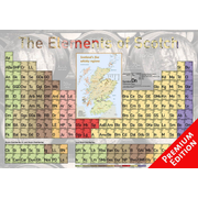 Elements of Scotch - Poster 100x70cm Premium Edition - The Scotch Distilleries in Overview
