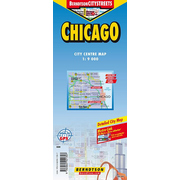 Chicago - 1:9 000 +++ Chicago+, Hyde Park, Lincoln Park, O'Hare Airport, Public Transport (CTA), Time Zone