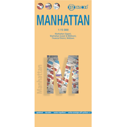 Manhattan, Borch Map - Manhattan (Upper), Manhattan (Lower & Midtown), Financial
