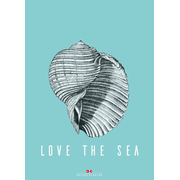 Set: 2 x Maritimes Notizbuch – Illustration: Muschel, Spruch: Love the Sea