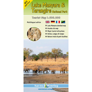 Lake Manyara & Tarangire National Park - Tourist Map 1:200.000