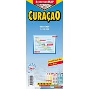 Curaçao - 1:85 000 +++ ABS Islands, Chistoffel Park, Lesser Antilles, Willemstad, Willemstad & Subburbs, Time Zone
