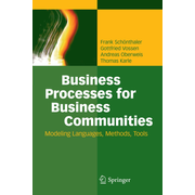 Business Processes for Business Communities - Modeling Languages, Methods, Tools