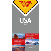 Reisekarte USA 1:4 Mio - Travel Map USA