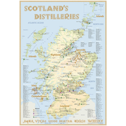 Whisky Distilleries Scotland - Poster 70x100cm Standard Edition - The Scottish Whisky Landscape in Overview