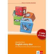 English story dice - Story-Telling and creative writing for intermediate learners. 4 sets of 12 dice. 4 x 12 Würfel