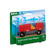 BRIO 33938 Container Goldwaggon, 2-teilig