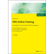 IFRS Online-Training - Lernprogramm zur Internationalen Rechnungslegung