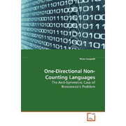 One-Directional Non-Counting Languages - The Anti-Symmetric Case of Brzozowski's Problem