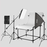 Walimex Shooting Table Set Pro Daylight, Black, Silver, White, Glass, Metal, Plastic