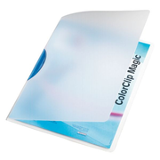 Leitz ColorClip Magic - blue report cover Polypropylene (PP)