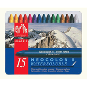 Caran d-Ache NEOCOLOR II 15's Wax pastel Hard Blue, Multicolour 15 pc(s)