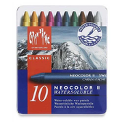 Caran d-Ache NEOCOLOR II 10's Wax pastel Hard Blue, Multicolour 10 pc(s)