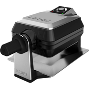 Krups FDD95D waffle iron 2 waffle(s) 1200 W Black, Stainless steel