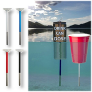 FloatingBob 4-Pack Swimming Attachment for Drinks Cans and Cups - Patented Cup Holder Pool Water
