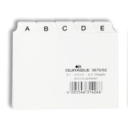 Durable 3670/02 index card White 25 pc(s)