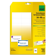 Sigel LP898 non-adhesive label 100 pc(s) White Rectangle