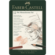 Faber-Castell 112975, Black,Charcoal,Graphite,Walnut,White, 12 pc(s)