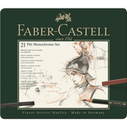 Faber-Castell 112976, Graphite,Charcoal, Wood, 21 pc(s)