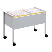 Durable 100 Duo file storage box Stainless steel Silver