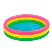 Intex 57412NP above ground pool Inflatable pool Round 136 L Blue, Grey, Red, Yellow