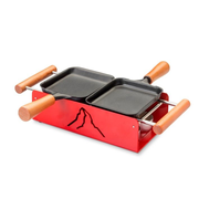 TTM 100.012 raclette grill 2 person(s) Black, Red