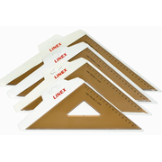 Linex College 432 45° 45° triangle Plastic Brown 3 pc(s)