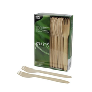 Papstar 18199 Table fork Wood 100 pc(s)